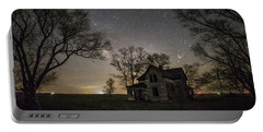 Dark Places On The Prairie  Portable Battery Charger by Aaron J Groen