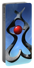 Portable Battery Charger featuring the photograph Introspection Sculpture by Christopher McKenzie