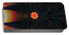 Dark Space Fractal  Portable Battery Charger