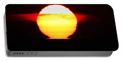 Dark Sunrise Portable Battery Charger by Kathy Long