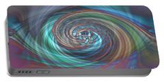 Dark Swirls Portable Battery Charger