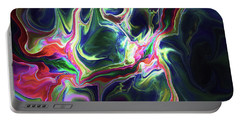 Portable Battery Charger featuring the digital art Dark To Light by Deborah Benoit