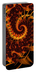 Portable Battery Charger featuring the digital art Darkness In Paradise by Jeff Iverson