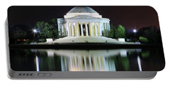 Darkness Over The Jefferson Memorial Portable Battery Charger