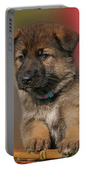 Portable Battery Charger featuring the photograph Darling Puppy by Sandy Keeton