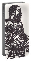 Portable Battery Charger featuring the drawing Darren Mcfadden 1 by Jeremiah Colley