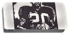 Portable Battery Charger featuring the drawing Darren Mcfadden 2 by Jeremiah Colley
