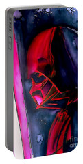 Portable Battery Charger featuring the drawing Darth Vader Illustration Edition by Justin Moore
