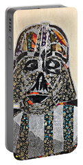 Portable Battery Charger featuring the tapestry - textile Darth Vader Star Wars Afrofuturist Collection by Apanaki Temitayo M
