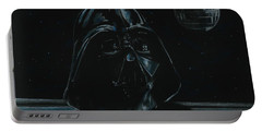 Portable Battery Charger featuring the drawing Darth Vader Study by Meagan  Visser