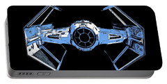 Darth Vaders Tie Figher Advanced X1 Tee Portable Battery Charger by Edward Fielding