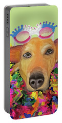 Portable Battery Charger featuring the painting Date With Paint Sept 18 6 by Ania M Milo