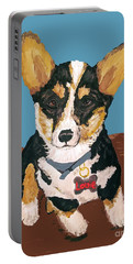 Portable Battery Charger featuring the painting Date With Paint Sept 18 8 by Ania M Milo