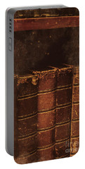 Portable Battery Charger featuring the photograph Dated Textbooks by Jorgo Photography - Wall Art Gallery