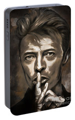 Portable Battery Charger featuring the painting David by Andrzej Szczerski