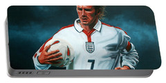 David Beckham Portable Battery Charger by Paul Meijering
