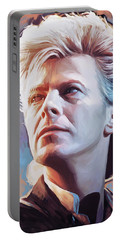 Portable Battery Charger featuring the painting David Bowie Artwork 2 by Sheraz A