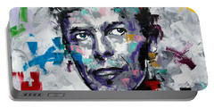 Portable Battery Charger featuring the painting David Bowie II by Richard Day