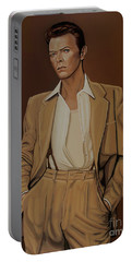 David Bowie Four Ever Portable Battery Charger by Paul Meijering