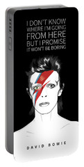 David Bowie Quote Portable Battery Charger