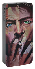 David Bowie Portable Battery Charger by Steve Hunter