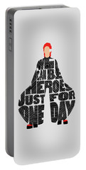 David Bowie Typography Art Portable Battery Charger