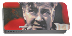 David Lynch Portable Battery Charger by Luis Ludzska