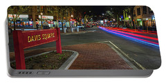 Davis Square Sign Somerville Ma Mikes Portable Battery Charger