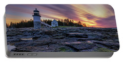 Dawn Breaking At Marshall Point Lighthouse Portable Battery Charger