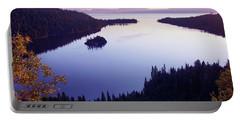 Dawn At Emerald Bay, Lake Tahoe Portable Battery Charger