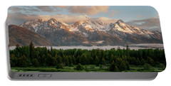 Dawn At Grand Teton National Park Portable Battery Charger