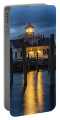 Dawn At Roanoke Marshes Lighthouse Portable Battery Charger