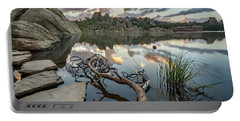 Portable Battery Charger featuring the photograph Dawn At Sylvan Lake by Adam Romanowicz