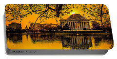 Portable Battery Charger featuring the photograph Dawn At The Jefferson Memorial  by Nick Zelinsky