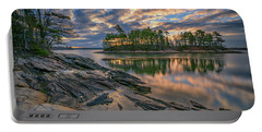 Portable Battery Charger featuring the photograph Dawn At Wolfe's Neck Woods by Rick Berk