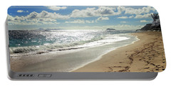 Portable Battery Charger featuring the photograph Dawn Beach by Lars Lentz