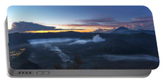 Dawn Breaking Scene Of Mt Bromo Portable Battery Charger