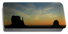 Dawn In Monument Valley Portable Battery Charger