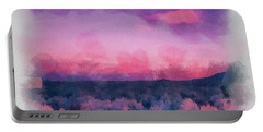 Dawn In Taos In Aquarelle Portable Battery Charger