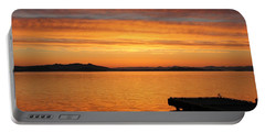 Dawn In The Sky At Dusavik Portable Battery Charger