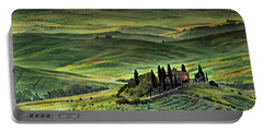 Dawn In Tuscany Italy Portable Battery Charger