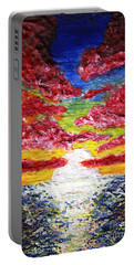 Dawn Of A New Day Seascape Sunrise Painting 141a Portable Battery Charger