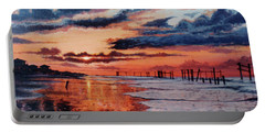 Dawn On Crystal Beach Portable Battery Charger