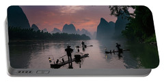 Waiting For Sunrise On Lee River. Portable Battery Charger