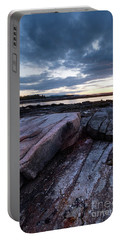 Portable Battery Charger featuring the photograph Dawn On The Shore In Southwest Harbor, Maine  #40140-40142 by John Bald