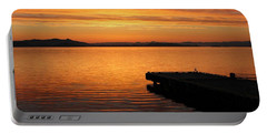 Dawn On The Water At Dusavik Portable Battery Charger