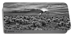 Dawn Over Magic Taos In B-w Portable Battery Charger