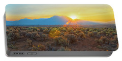 Dawn Over Magic Taos Mountain Portable Battery Charger