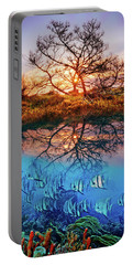 Portable Battery Charger featuring the photograph Dawn Over The Reef by Debra and Dave Vanderlaan