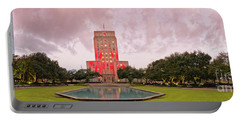 Dawn Panorama Of Houston City Hall At Hermann Square - Downtown Houston Harris County Portable Battery Charger